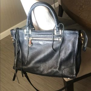 Rebecca minkoff regan satchel in black leather
